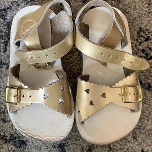 Other - Salt Water Sandals in gold heart style size 6